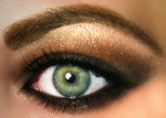 maquillage make up yeux verts