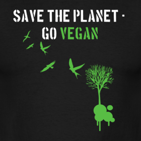 save the planet, go vegan végatarisme