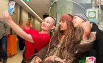 Johnny Depp Jack Sparrow enfants malades Brisbane Australie