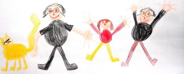 famille heureuse dessin - famille dessin enfant