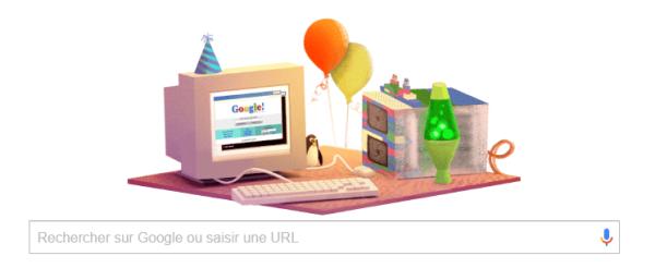 anniversaire google - 17 ans google - âge google - indispensable google