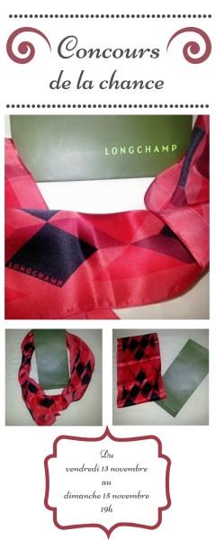 concours foulard longchamps - idée cadeaux noël